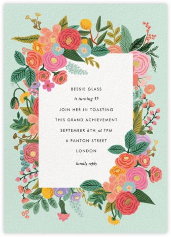 Garden Party (Tall) - Rifle Paper Co. - Adult birthday invitations