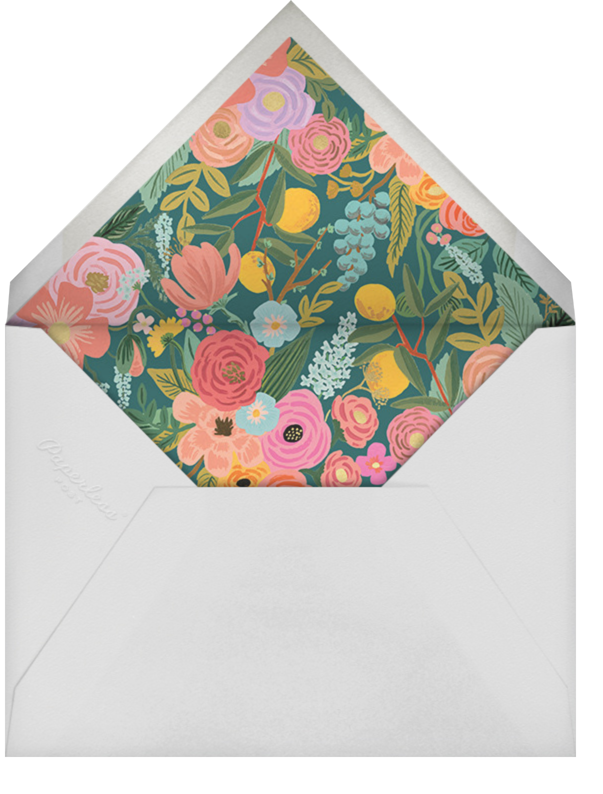 Garden Party (Tall) - Rifle Paper Co. - Baby shower - envelope back