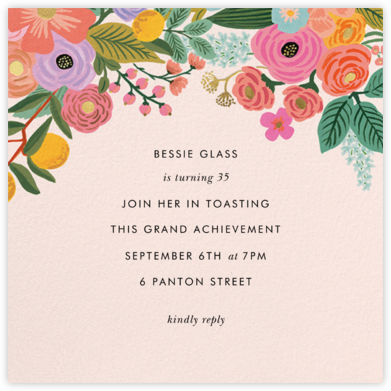 Garden Party (Square) - Rifle Paper Co. - Adult birthday invitations