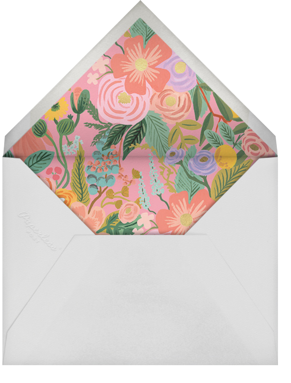 Garden Party (Square) - Rifle Paper Co. - Brunch - envelope back