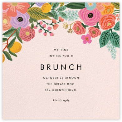 Garden Party (Square) - Rifle Paper Co. - Brunch invitations
