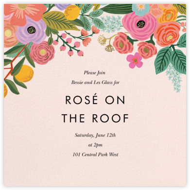 Garden Party (Square) - Rifle Paper Co. - Summer Party Invitations