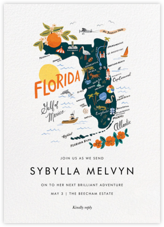 Sunshine State - Rifle Paper Co. - Celebration invitations