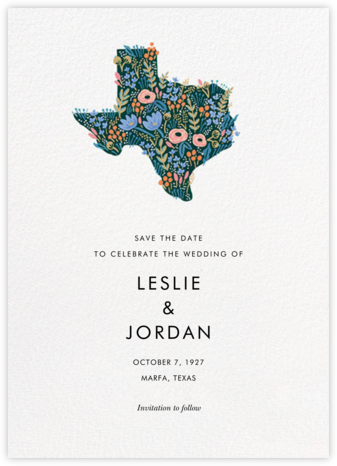 Lone Star State - Rifle Paper Co. - Save the dates
