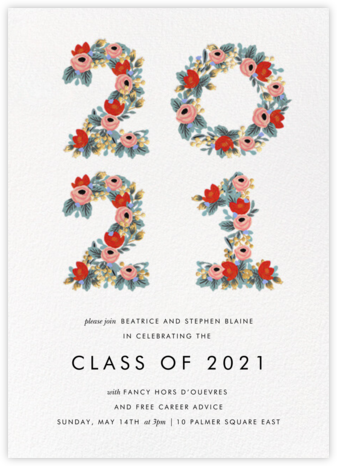 Year in Bloom - White - Rifle Paper Co. - Rifle Paper Co. Invitations