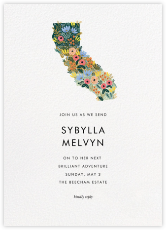 Golden State - Rifle Paper Co. - Farewell party invitations