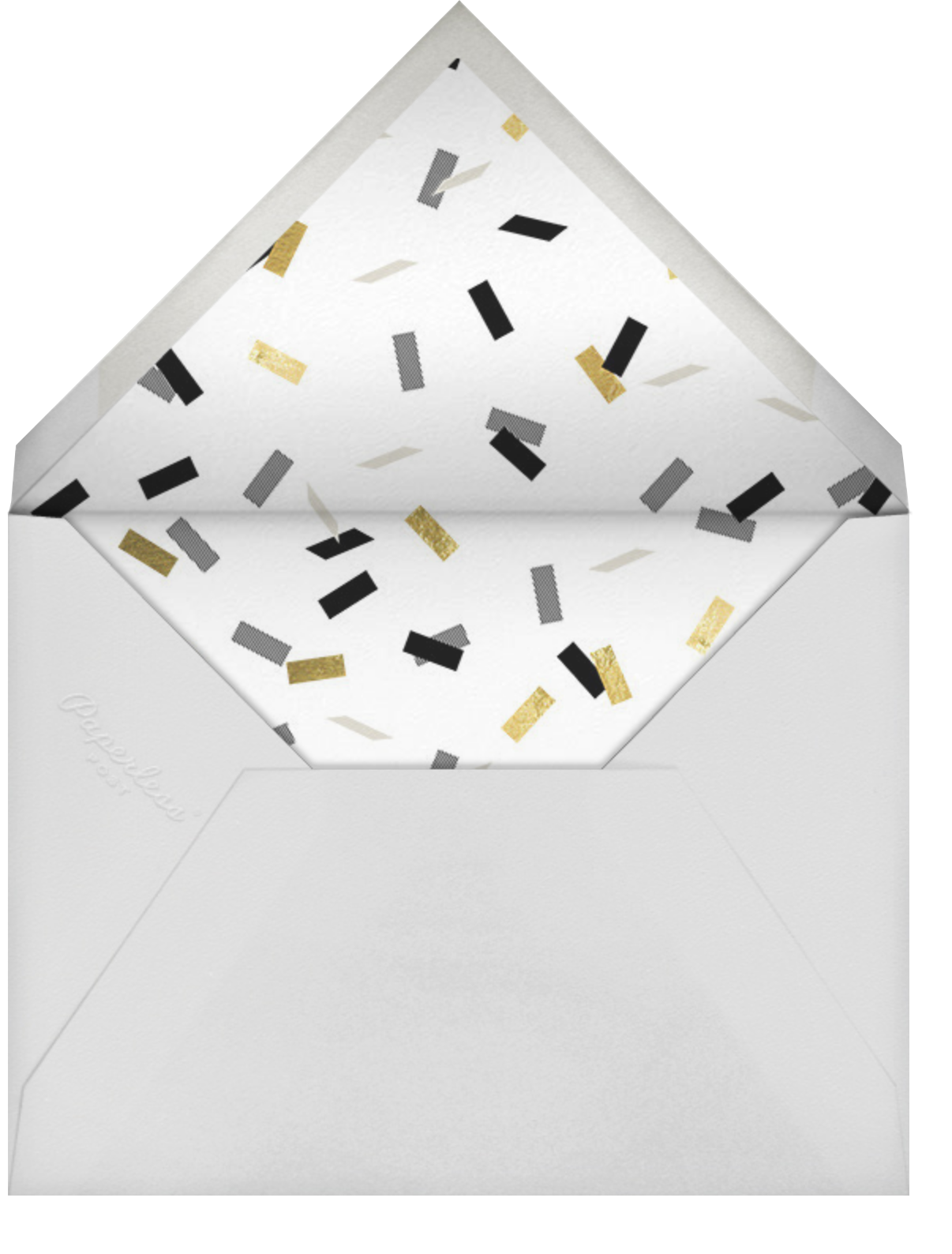 Parade Day - Black - Paperless Post - Graduation - envelope back