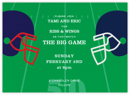 Football Helmets - Paperless Post - Winter Party Invitations