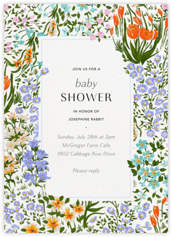 Moor Heather (Tall) - Anthropologie - Baby Shower Invitations