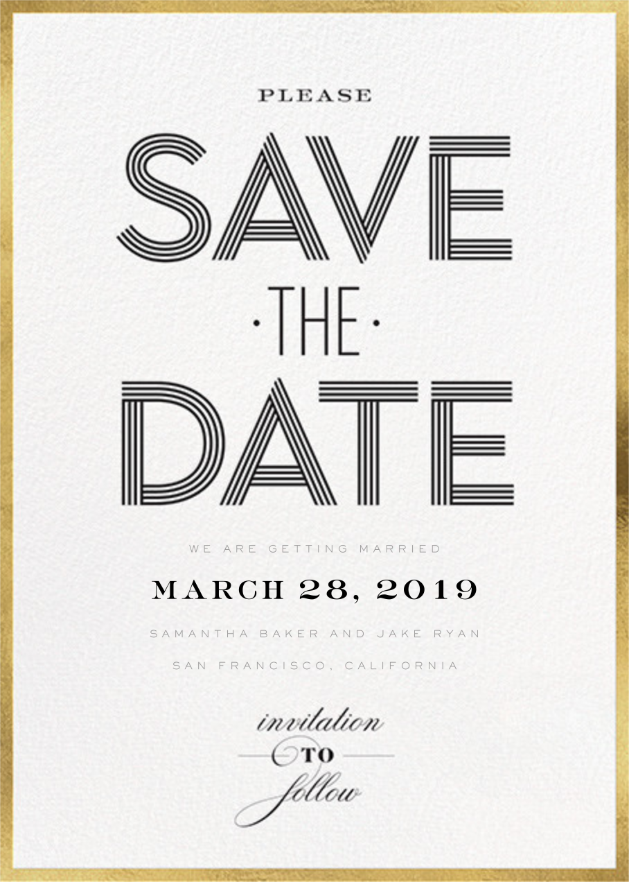 Striped Save the Date - bluepoolroad - Save the dates