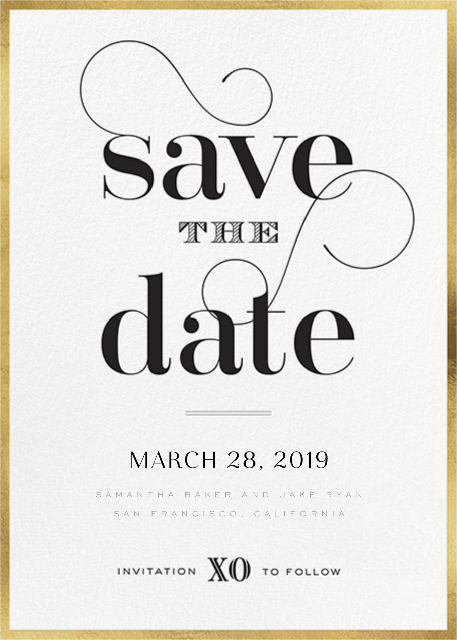 Swashed Save the Date - bluepoolroad - Save the dates