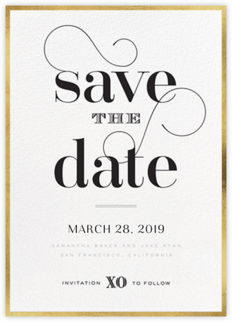 Swashed Save the Date - bluepoolroad - bluepoolroad invitations and cards