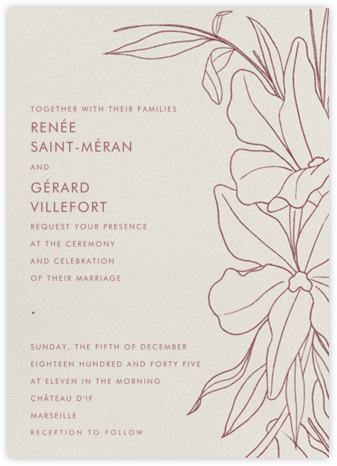 Aubrey (Invitation) - Puce - Paperless Post - Wedding Invitations