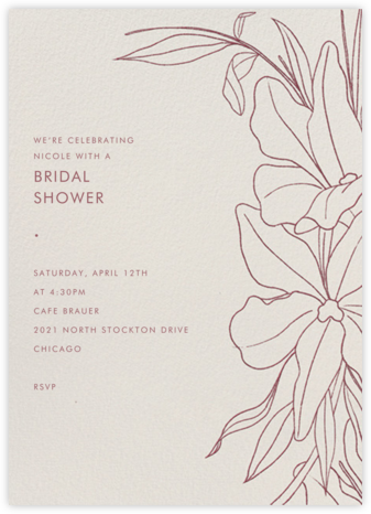 Aubrey - Puce - Paperless Post - Bridal shower invitations