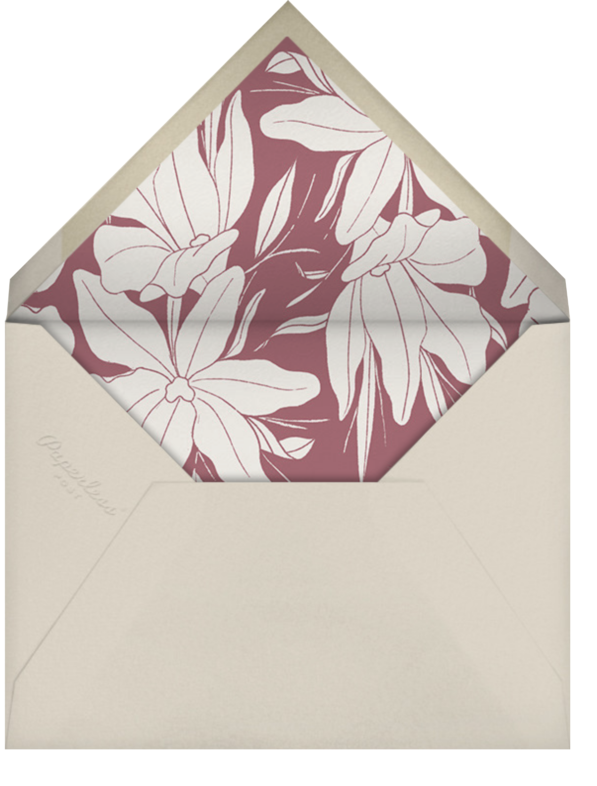 Aubrey - Puce - Paperless Post - Mother's Day - envelope back