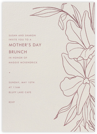 Aubrey - Puce - Paperless Post - Online Mother's Day invitations