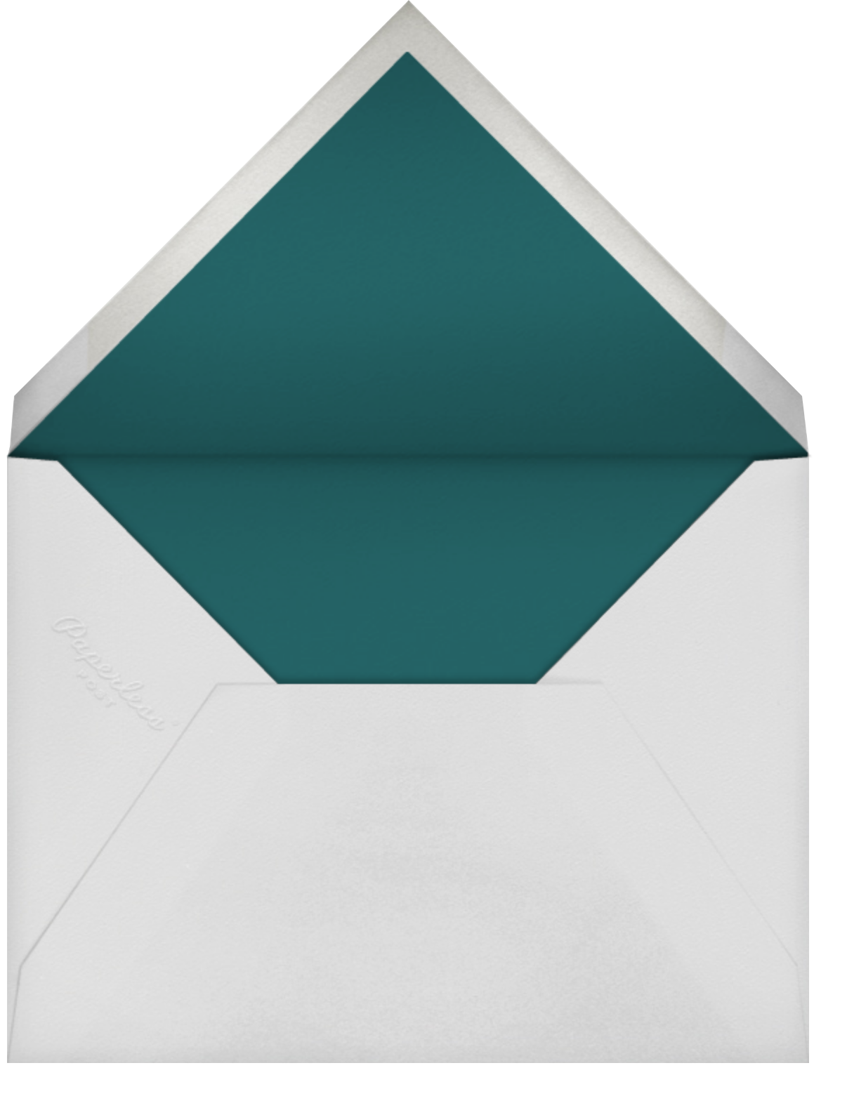 Embossed Floral - Oscar de la Renta - Adult birthday - envelope back