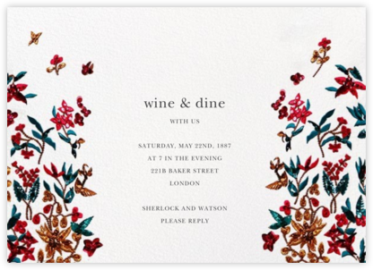 Embossed Floral - Oscar de la Renta - Dinner Party Invitations