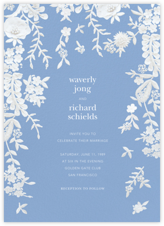 Fleurs d'Alençon (Invitation) - Antwerp - Oscar de la Renta - Wedding Invitations