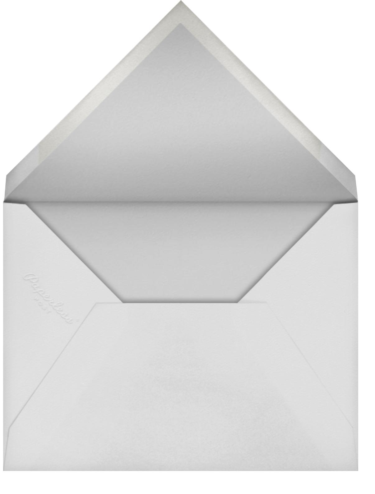 Fleurs d'Alençon - White - Oscar de la Renta - Bridal shower - envelope back