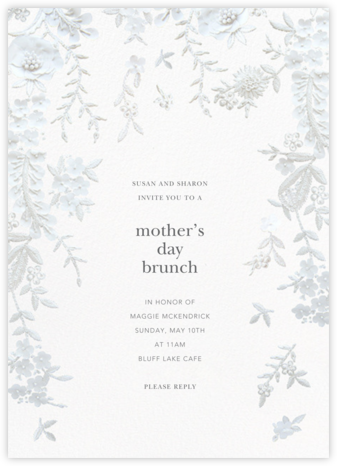Fleurs d'Alençon - White - Oscar de la Renta - Online Mother's Day invitations