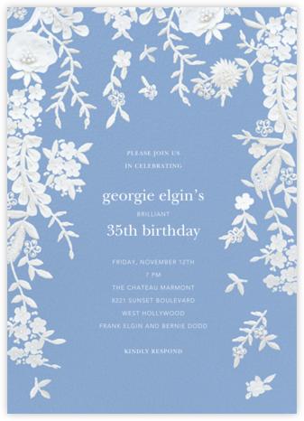 Fleurs d'Alençon - Antwerp - Oscar de la Renta - Adult birthday invitations