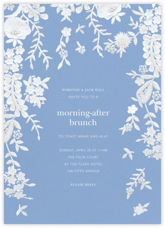 Fleurs d'Alençon - Antwerp - Oscar de la Renta - Wedding Weekend Invitations
