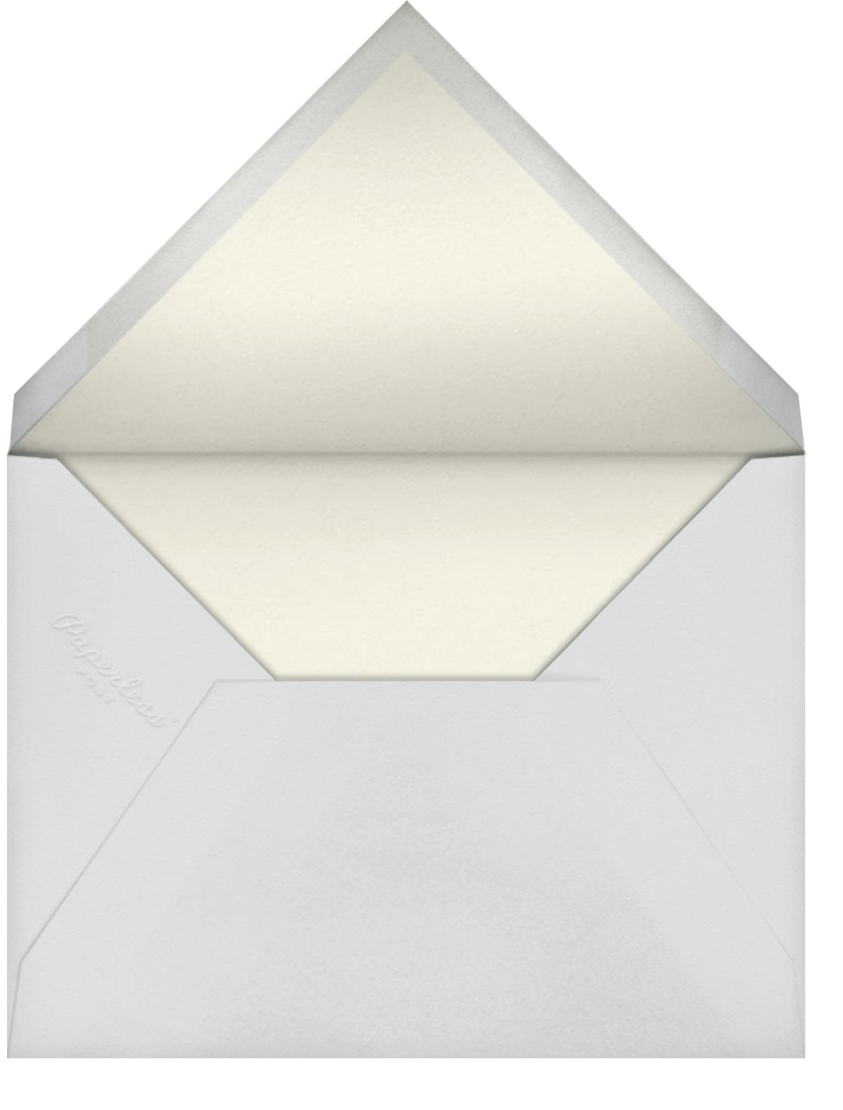 Ars Botanica - Oscar de la Renta - Bridal shower - envelope back