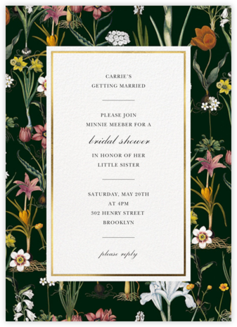Ars Botanica - Oscar de la Renta - Bridal shower invitations