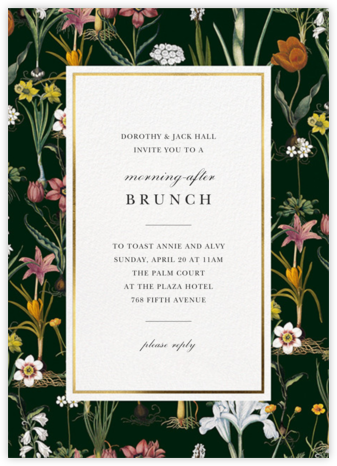 Ars Botanica - Oscar de la Renta - Wedding Weekend Invitations