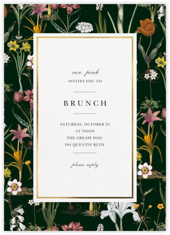 Ars Botanica - Oscar de la Renta - Brunch invitations