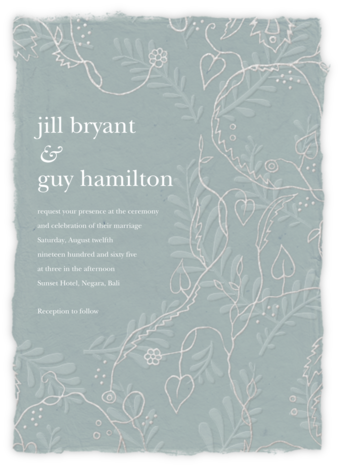 Hampstead - Gray Green (Invitation) - Paperless Post - Wedding Invitations