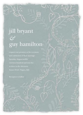 Hampstead - Gray Green (Invitation) - Paperless Post -