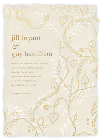 Hampstead - Cream (Invitation) - Paperless Post - Wedding Invitations