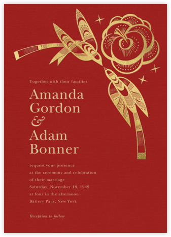 Delichon (Invitation) - Crimson - Paperless Post - Wedding Invitations