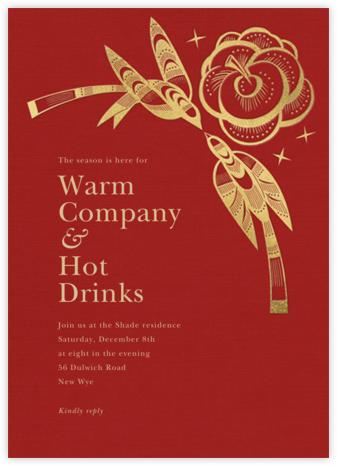Delichon - Crimson - Paperless Post - Holiday invitations