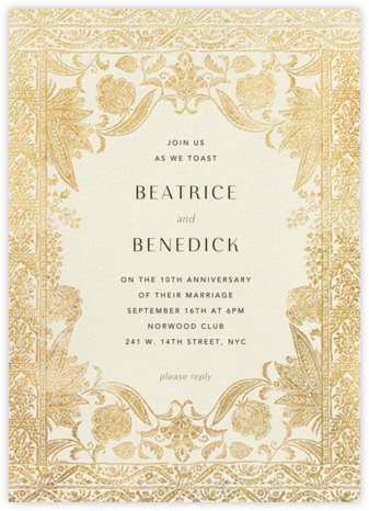 Hotel Udaipur - Cream - Anthropologie - Celebration invitations