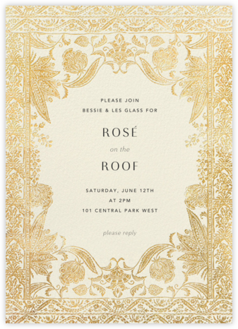 Hotel Udaipur - Cream - Anthropologie - Online Party Invitations