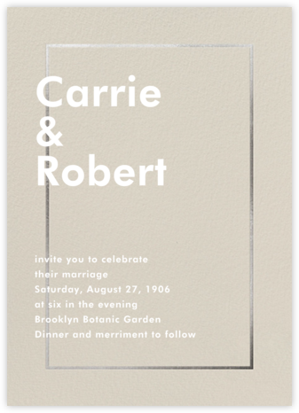 Fillet - Santa Fe (Invitation) - Paperless Post - Wedding Invitations