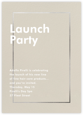 Fillet - Santa Fe - Paperless Post - Launch and event invitations