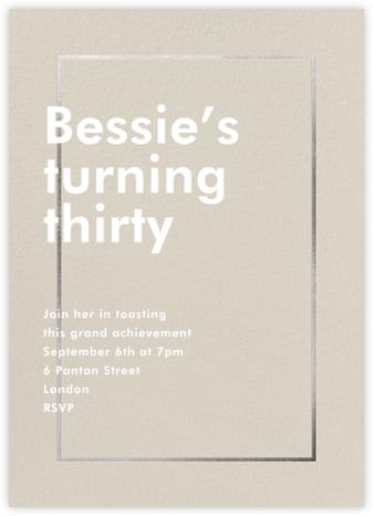 Fillet - Santa Fe - Paperless Post - Adult Birthday Invitations