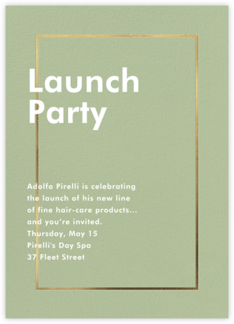 Fillet - Palm - Paperless Post - Business event invitations