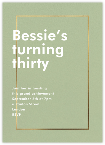 Fillet - Palm - Paperless Post - Adult Birthday Invitations