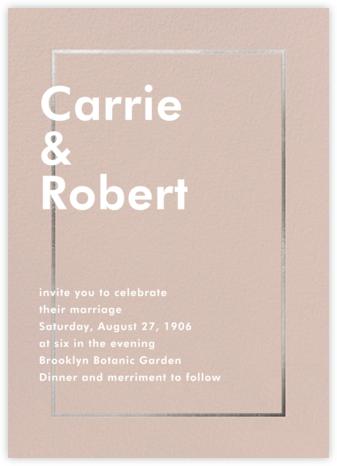 Fillet - Antique Pink (Invitation) - Paperless Post - Wedding Invitations