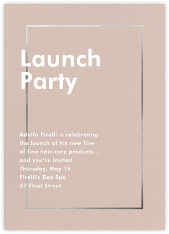 Fillet - Antique Pink - Paperless Post - Launch Party Invitations