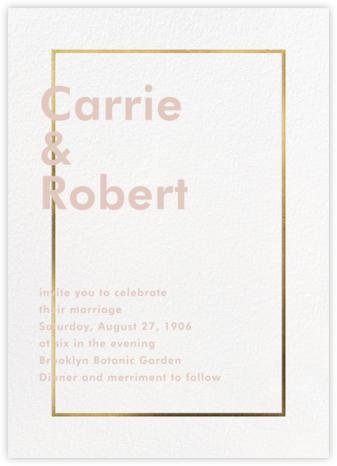 Fillet - White (Invitation) - Paperless Post - Wedding Invitations