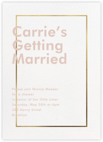Fillet - White - Paperless Post - Bridal shower invitations