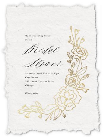 Papier D'armenie - Paperless Post - Bridal shower invitations