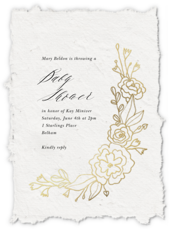 Papier D'armenie - Paperless Post - Baby shower invitations