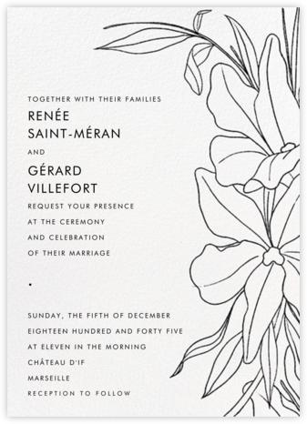 Aubrey (Invitation) - Black - Paperless Post - Wedding Invitations
